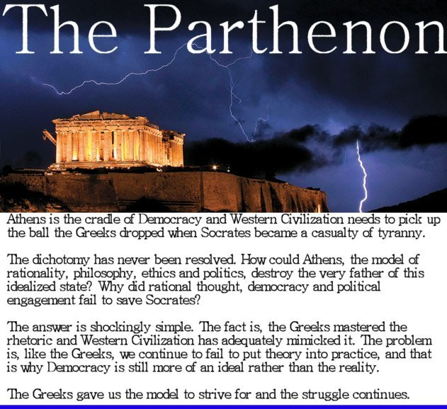 greek democracy on western civilization Much of that which is modern has its roots in the ancient greeks-their democracy  of western civilizations from the greeks  of greek civilization.