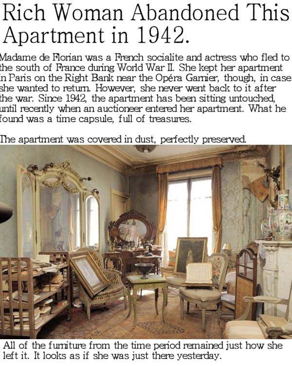 Apartment In Paris Abandoned In 1942